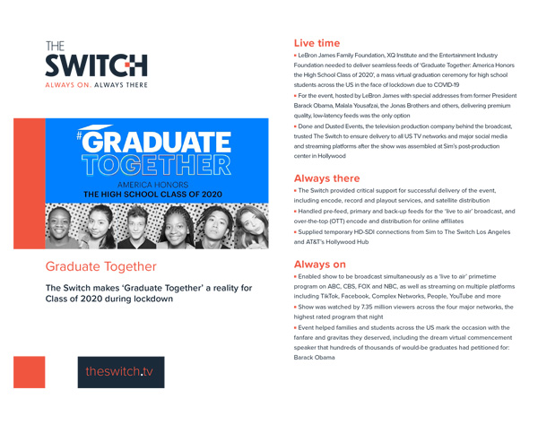 The Switch - Case Studies - Graduate Together