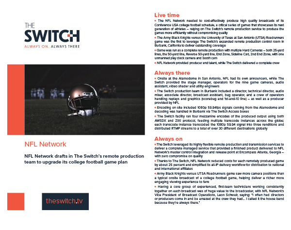 The Switch Case Studies - NFL