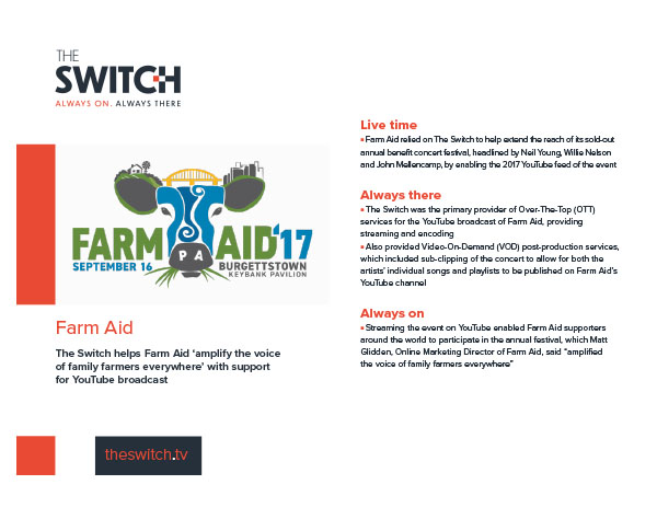 The Switch Case Studies - Farm Aid