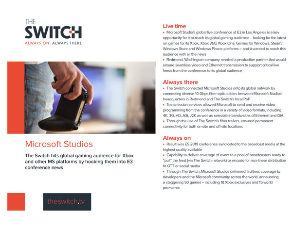 The Switch Case Studies - Microsoft Studios