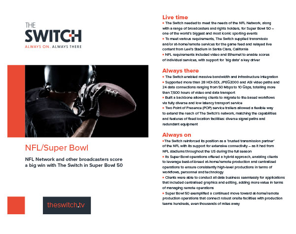 The Switch Case Studies - NFL Superbowl